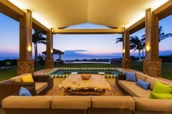 Image the blue hues of sunset views from your private covered lanai in your own Kauai luxury home